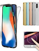 billige iPhone-etuier-Etui Til Apple iPhone X / iPhone 8 Transparent Fuldt etui Ensfarvet Blødt TPU for iPhone X / iPhone 8 Plus / iPhone 8