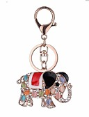 cheap Women's Dresses-Elephant Keychain Rose Gold Animal Zircon, Alloy Cartoon, Colorful For Daily / Date