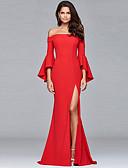 cheap Maxi Dresses-Women's Party / Holiday Boho Maxi Slim Sheath Dress Strapless Spring Red M L XL / Sexy