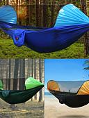 abordables Relojes de Moda-Hamaca para camping con red antimosquitos Al aire libre Resistente a la lluvia, Transpirabilidad Nailon para Senderismo / Camping - 2 Personas Naranja / Azul Oscuro / Verde Oscuro