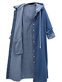 cheap Women's Trench Coats-Women's Cotton Trench Coat - Solid Colored