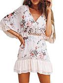 זול תחרה רומטנית-צווארון V מיני שמלה סווינג ליציאה בגדי ריקוד נשים