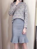 tanie Modna bielizna-Damskie Sweter Geometryczny Spódnica