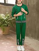 رخيصةأون قمصان رجالي-مجموعة ملابس قطن كم طويل طباعة طباعة / ألوان متناوبة مناسب للخارج رياضي Active / أناقة الشارع للفتيات أطفال