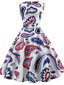 baratos Vestidos Vintage-Mulheres Vintage / Elegante Algodão Delgado Calças - Floral Estampado Branco / Para Noite
