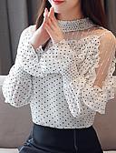 ieftine Rochii de Damă-Pentru femei Bluză De Bază - Buline Imprimeu