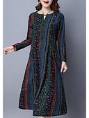 ieftine Print Dresses-Pentru femei Chinoiserie Pantaloni - Grafic Imprimeu Albastru piscină