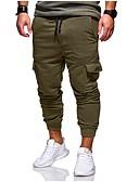 olcso Férfi nadrágok és rövidnadrágok-Férfi Alap Pamutszövet nadrág / Melegítőnadrágok Nadrág Egyszínű