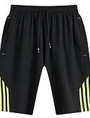 ieftine Pantaloni Bărbați si Pantaloni Scurți-Bărbați Bumbac Pantaloni Sport / Pantaloni Scurți Pantaloni Mată