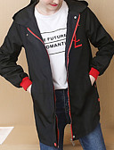 preiswerte Damenmäntel und Trenchcoats-Trenchcoat für Frauen - zeitgenössisch mit Kapuze