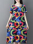 preiswerte Damen Kleider-Damen A-Linie Kleid Geometrisch Midi