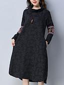 povoljno Ženske haljine-Žene A kroj Haljina Uski okrugli izrez Midi