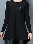 cheap Women's Belt-Women's Daily Basic Solid Colored Long Sleeve Regular Pullover, Round Neck Fall Wine / Light Brown / Army Green XXL / XXXL / 4XL