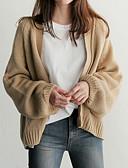 preiswerte Damen Pullover-Damen Ausgehen Langarm Strickjacke - Solide V-Ausschnitt