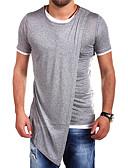 ieftine Maieu & Tricouri Bărbați-Bărbați Tricou De Bază - Mată Negru & Roșu / Alb negru