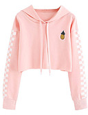 cheap Women's Hoodies & Sweatshirts-Women's Cotton Hoodie - Solid Colored Pink XL