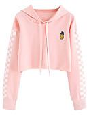 abordables Sweatshirt & Sweats à capuche Femme-Femme Coton Pantalon - Couleur Pleine Rose Claire