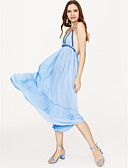 cheap Maxi Dresses-Women's Backless Party Maxi Loose Swing Dress Strap Red Wine Light Blue S M L / Sexy
