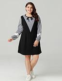 cheap Women's Dresses-Women's Going out Slim Sheath Dress Black XXL XXXL XXXXL