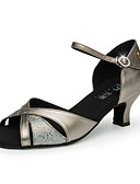 billige Tights-Dame Sko til latindans / Moderne sko Syntetisk Sandaler Glimmer Kubansk hæl Kan spesialtilpasses Dansesko Bronse / Sølv