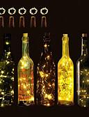 זול קווארץ-BRELONG® 5pcs בקבוק יין LED לילה אור לבן חם / לבן / אדום לחצן מופעל יצירתי / חתונה / קישוט <5 V