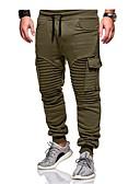 olcso Férfi nadrágok és rövidnadrágok-Férfi Alap Extra méret Pamut Bő Pamutszövet nadrág / Melegítőnadrágok Nadrág - Egyszínű Szürke