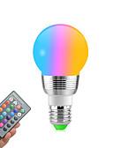cheap Robes & Sleepwear-1pc RGB Colour Changing E27 E14 RGB LED Bulb LED Lamp Light Spot Bulb IR Remote Control Home living Room Party Decoration