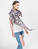 זול צעיפים לנשים-מלבן - פרחוני שמש פרח פרנזים בסיסי / חג בגדי ריקוד נשים