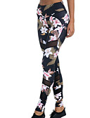 povoljno Ženske hlače-Žene Osnovni Legging - Cvjetni print Visoki struk