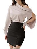 tanie Koszula-Damskie Aktywny Zestaw Solidne kolory Spódnica