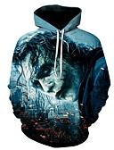 voordelige Herenhoodies & Sweatshirts-Heren Actief Grote maten Broek - Geometrisch / 3D Print Klaver / Capuchon / Lange mouw / Herfst / Winter