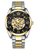 cheap Mechanical Watches-Tevise Men's Mechanical Watch Japanese Automatic self-winding 30 m Water Resistant / Water Proof Hollow Engraving Noctilucent Stainless Steel Band Analog Luxury Fashion Black / Silver - Black / Gold