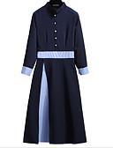 זול 2017ביקיני ובגדי ים-צווארון עגול קצר מידי שמלה נדן רזה ליציאה / עבודה בגדי ריקוד נשים