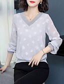cheap Women's Blouses-Women's Basic Blouse - Solid Colored Lace / Patchwork