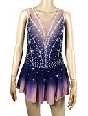 cheap Ice Skating Dresses , Pants & Jackets-Figure Skating Dress Women's / Girls' Ice Skating Dress Random Colors Open Back Halo Dyeing Spandex Micro-elastic Professional / Competition Skating Wear Handmade Sequin Sleeveless Figure Skating