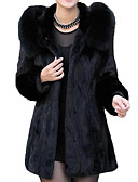 cheap Women's Fur & Faux Fur Coats-Women's Going out Basic Fur Coat - Solid Colored