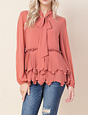 cheap Women's Blouses-women's blouse - solid colored round neck
