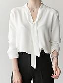 baratos Saias Femininas-Mulheres Blusa Básico Sólido Decote V Delgado