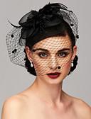 preiswerte Hochzeit Schals-Feder / Netz Fascinatoren / Kopfbedeckung mit Feder / Blumig / Blume 1pc Hochzeit / Besondere Anlässe Kopfschmuck