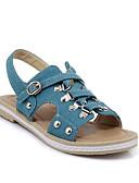 ieftine Editor's Picks-Pentru femei Pantofi de confort Denim Vară Sandale Toc Drept Albastru Închis / Albastru Deschis