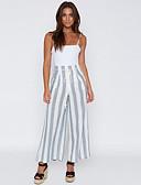 ieftine Pantaloni de Damă-Pentru femei Talie Înaltă Larg Pantaloni Chinos Pantaloni Dungi