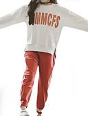 povoljno Haljine za djevojčice-Djeca Djevojčice Osnovni Dnevno Jednobojni / Print Dugih rukava Normalne dužine Poliester Komplet odjeće Crn 140