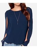tanie T-shirt-T-shirt Damskie Podstawowy, Patchwork Solidne kolory