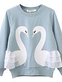 povoljno Majice s kapuljačama i trenirke za djevojčice-Djeca Djevojčice Aktivan Print Dugih rukava Trenirka s kapuljačom Plava