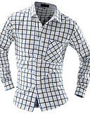 お買い得  メンズTシャツ&タンクトップ-男性用 ワーク シャツ スリム カラーブロック / 長袖