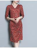 ieftine Rochii Maxi-Pentru femei Zvelt Bodycon Rochie În V Lungime Genunchi