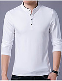 cheap Men's Polos-Men's Slim Polo - Solid Colored Stand / Short Sleeve