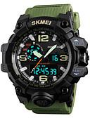 ieftine Ceas Sport-SKMEI Bărbați Ceas Sport Ceas Militar Japoneză Quartz Negru / Verde / Gri 50 m Alarmă Calendar Cronograf Analog - Digital Modă Plin de Culoare - Verde Albastru Kaki Un an Durată de Viaţă Baterie