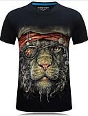 tanie Koszulki i tank topy męskie-T-shirt Męskie Moda miejska, Nadruk Zwierzę