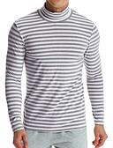 Χαμηλού Κόστους Ανδρικά μπλουζάκια και φανελάκια-Ανδρικά T-shirt Ενεργό / Βασικό Μονόχρωμο / Ριγέ
